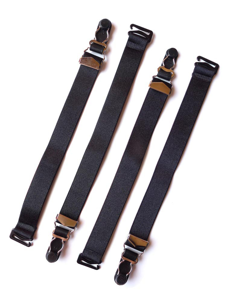 "Set of 4, Detachable 3/4"" Garter Straps"
