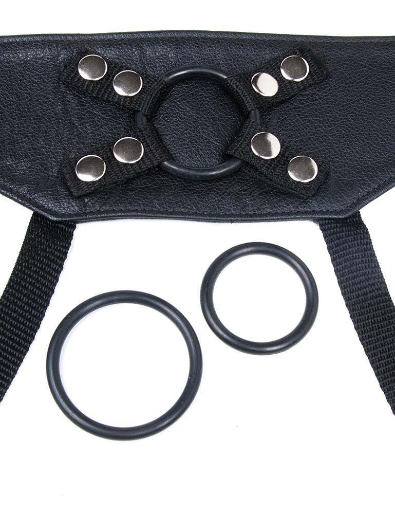 Crown Harness, Black Leather
