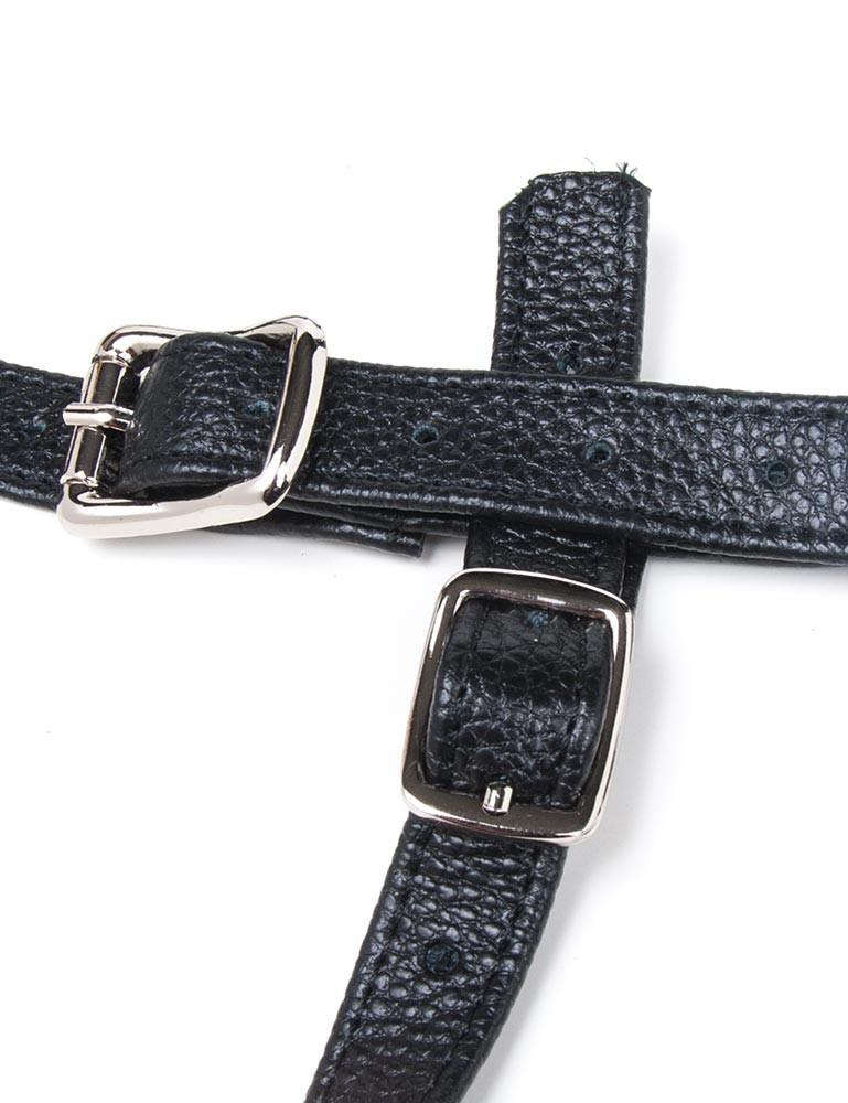 Terra Firma Strapon Leather Dildo Harness, Black
