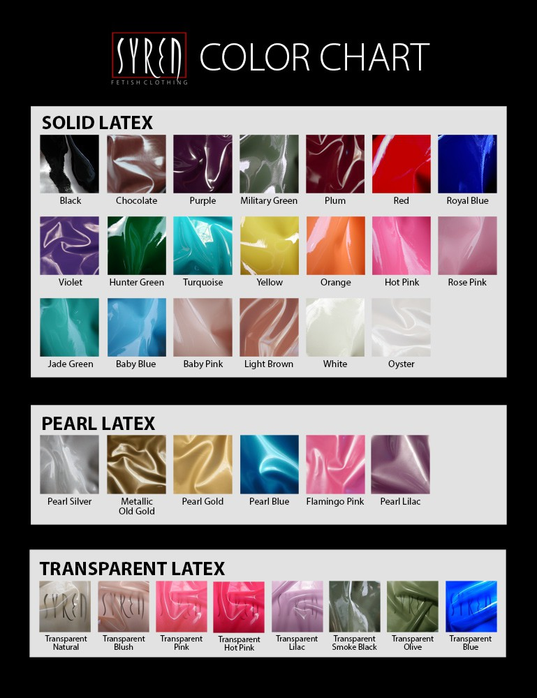 Syren Latex - Color Chart