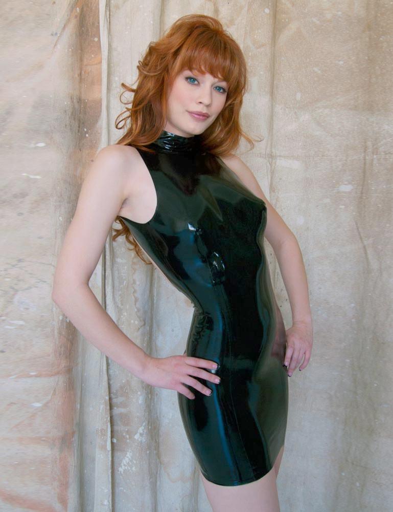 Little Backless Latex Dress - Justine Joli