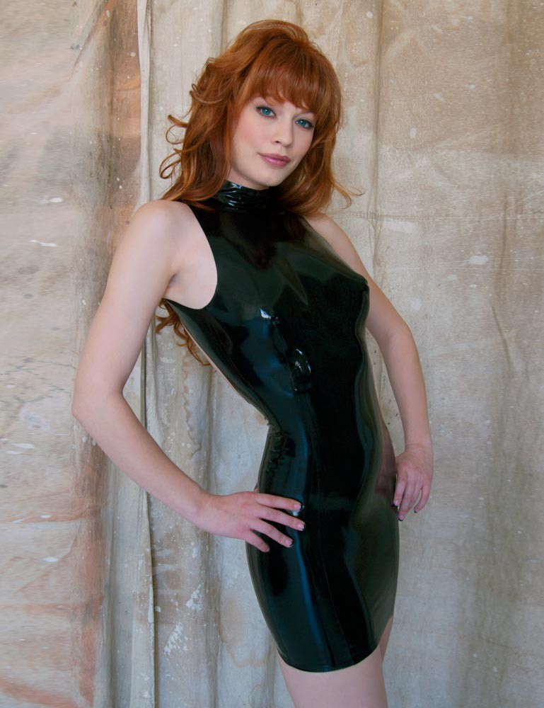 Little Backless Latex Dress - Justine Joli
