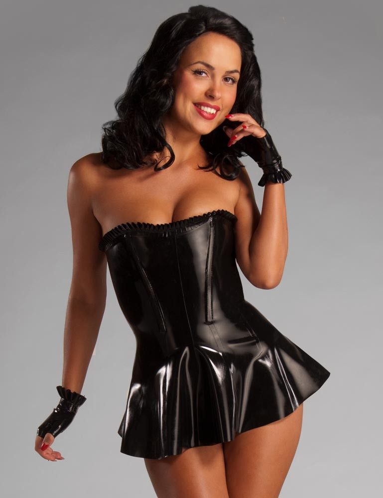 Syren Latex Rubber Corset Dress