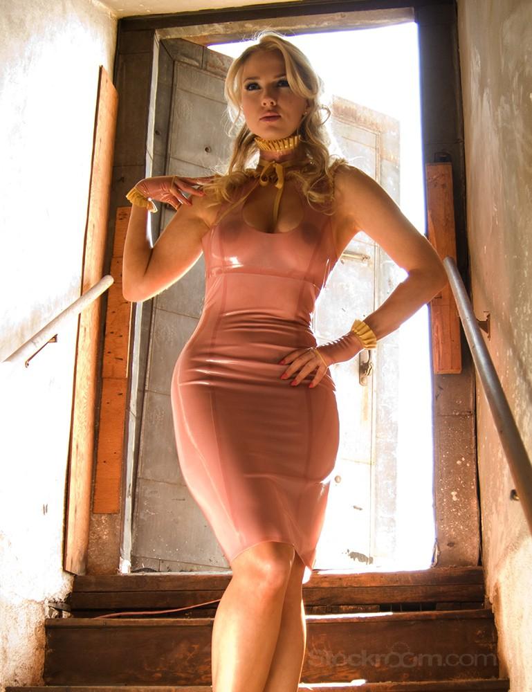 Syren Latex Ruffled Boobie Dress