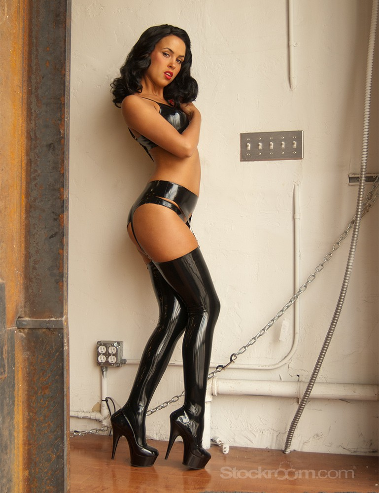 Syren Latex Mila Stockings