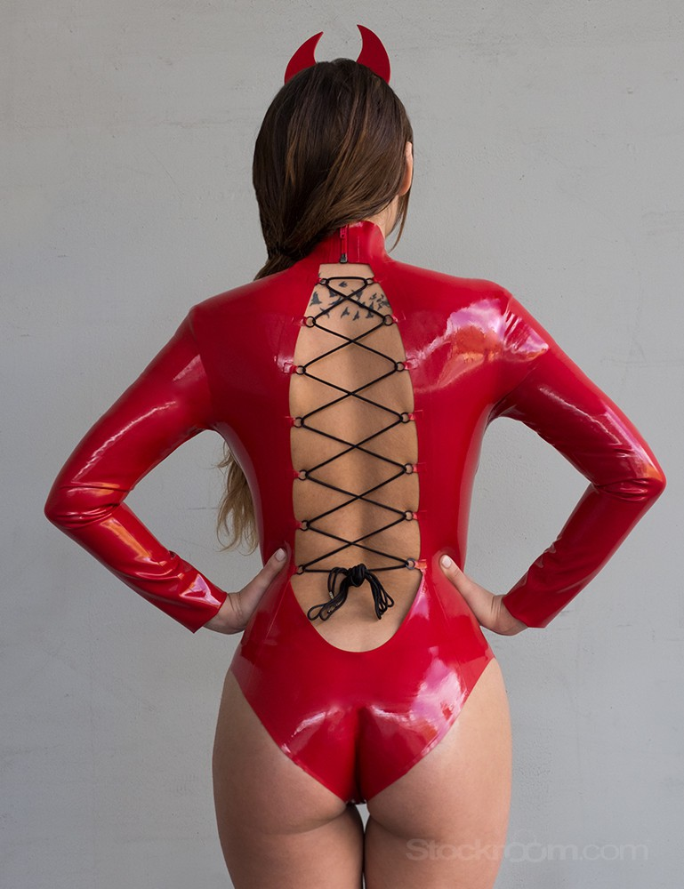 Syren Latex Nadia Bodysuit - Charlotte Cross